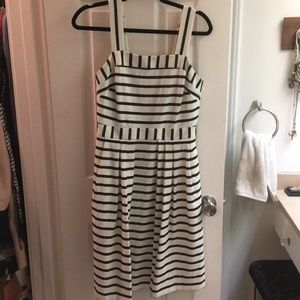 Navy and White striped Eva Mendes Dress size 2.